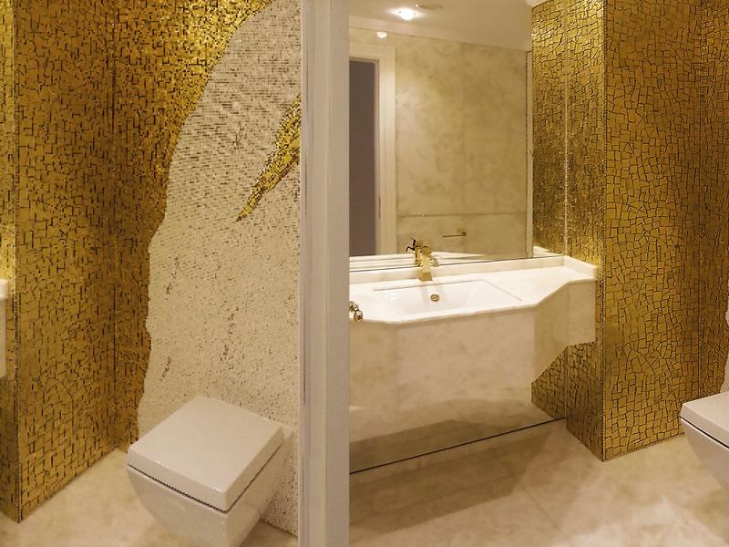 Bagno mosaico oro for Mosaico bisazza prezzi